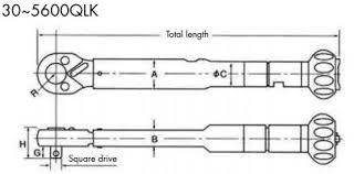 Cần xiết chỉnh lực 80-560Nm Kanon N560QLK