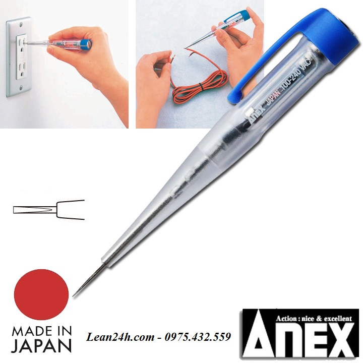 Bút thử điện đèn Led Anex No.2036L