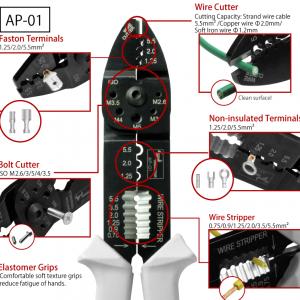 Kìm điện đa năng Tsunoda/King TTC AP-01