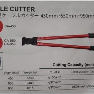 Thông số kỹ thuật Tsunoda CA-650